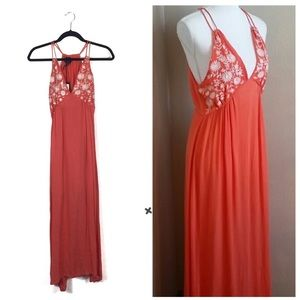 NWT Romeo & Juliet Couture Coral Embroidered Dress